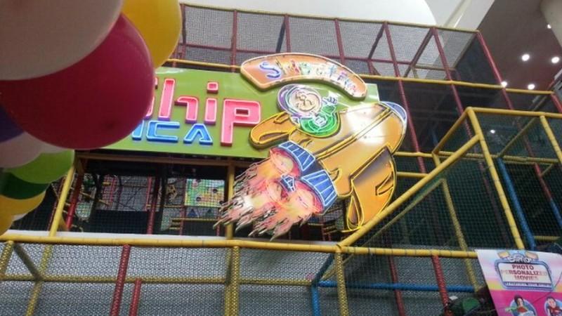 signboard starship galactica rocket playground